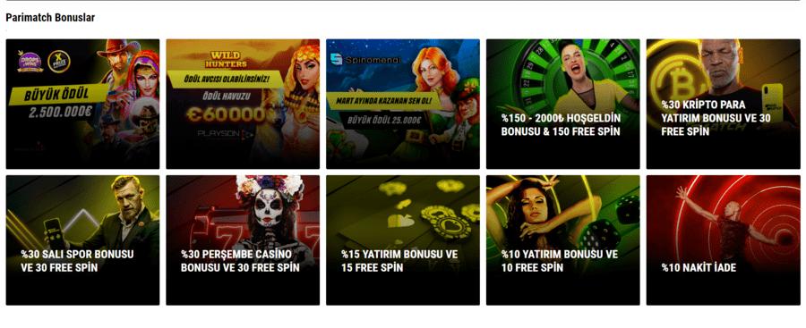 Parimatch Spor Bahisleri: Türk Oyunculara uygun ciddi bir casino